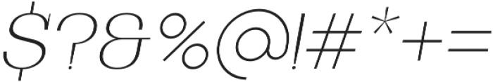 Bodrum Slab 11 Thin Italic otf (100) Font OTHER CHARS