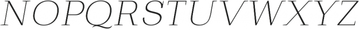 Bodrum Slab 11 Thin Italic otf (100) Font UPPERCASE