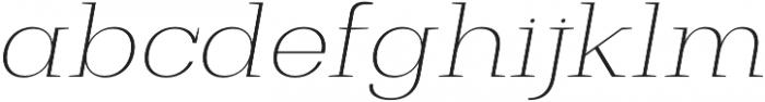 Bodrum Slab 11 Thin Italic otf (100) Font LOWERCASE