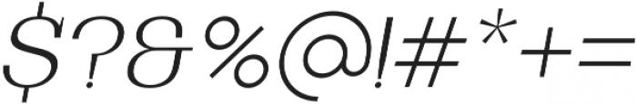 Bodrum Slab 12 Extra Light Italic otf (200) Font OTHER CHARS