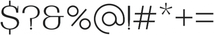 Bodrum Slab 12 Extra Light otf (200) Font OTHER CHARS