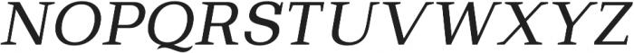 Bodrum Slab 14 Regular Italic otf (400) Font UPPERCASE