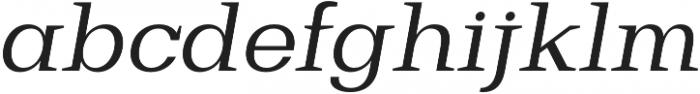 Bodrum Slab 14 Regular Italic otf (400) Font LOWERCASE