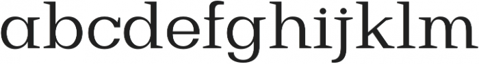 Bodrum Slab 14 Regular otf (400) Font LOWERCASE
