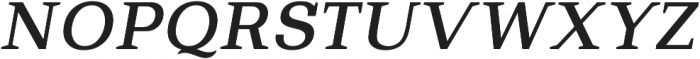 Bodrum Slab 15 Medium Italic otf (500) Font UPPERCASE