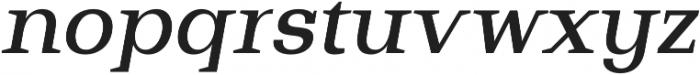 Bodrum Slab 15 Medium Italic otf (500) Font LOWERCASE