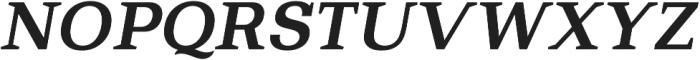 Bodrum Slab 16 Bold Italic otf (700) Font UPPERCASE