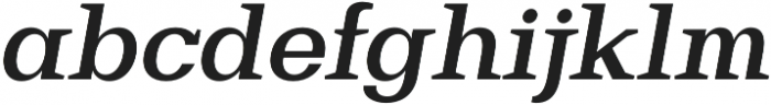 Bodrum Slab 16 Bold Italic otf (700) Font LOWERCASE