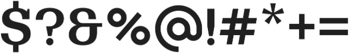 Bodrum Slab 16 Bold otf (700) Font OTHER CHARS
