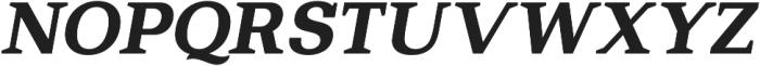 Bodrum Slab 17 Extra Bold Italic otf (700) Font UPPERCASE