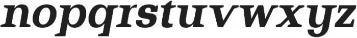 Bodrum Slab 17 Extra Bold Italic otf (700) Font LOWERCASE