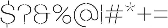 Bodrum Stencil 11 Thin otf (100) Font OTHER CHARS