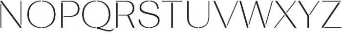 Bodrum Stencil 11 Thin otf (100) Font UPPERCASE
