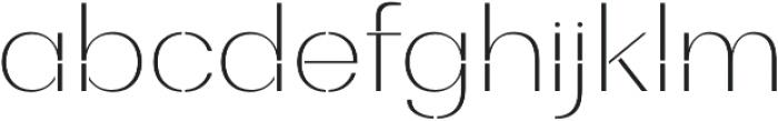 Bodrum Stencil 11 Thin otf (100) Font LOWERCASE