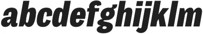 Body Grotesque Slim ExtraBold Italic otf (700) Font LOWERCASE