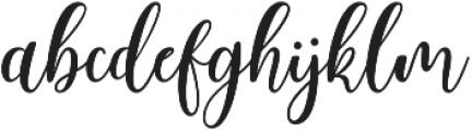 Body Silver Script Regular ttf (400) Font LOWERCASE