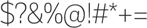 Body Text Light otf (300) Font OTHER CHARS