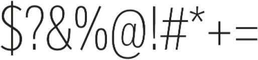 Body Text Slim Light otf (300) Font OTHER CHARS