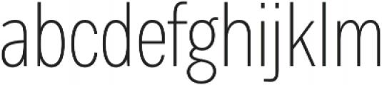 Body Text Slim Light otf (300) Font LOWERCASE