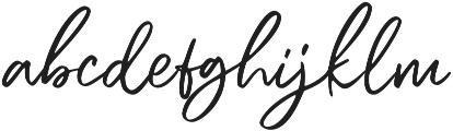 Bogoritmaa Signature otf (400) Font LOWERCASE