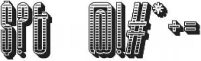 Bohema Uppercase Regular Combo Regular otf (400) Font OTHER CHARS