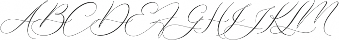 Boheme Floral Regular otf (400) Font UPPERCASE