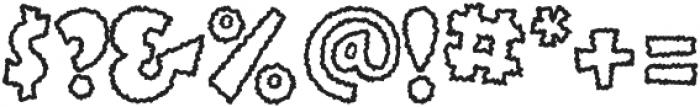 BoinkScratchyOutline ttf (400) Font OTHER CHARS