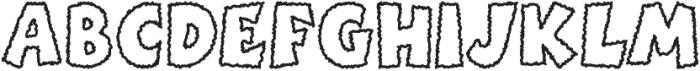 BoinkScratchyOutline ttf (400) Font UPPERCASE
