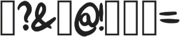 Bokito Regular otf (400) Font OTHER CHARS