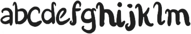 Bokito Regular otf (400) Font LOWERCASE