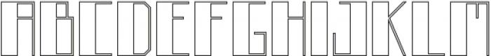 Boku Outline otf (400) Font UPPERCASE