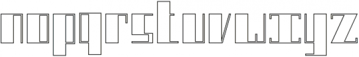 Boku Outline otf (400) Font LOWERCASE