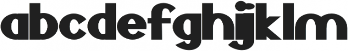 Bold Extended otf (700) Font LOWERCASE