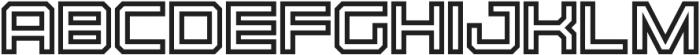 Bold Inline otf (700) Font LOWERCASE