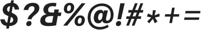 Bold Italic otf (700) Font OTHER CHARS