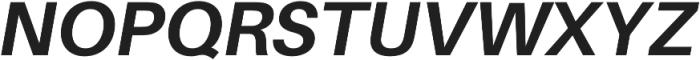 Bold Italic otf (700) Font UPPERCASE