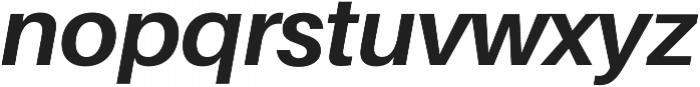 Bold Italic otf (700) Font LOWERCASE