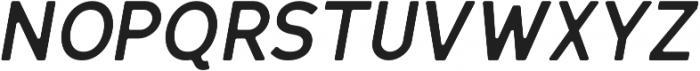 Bold Oblique Round otf (700) Font UPPERCASE