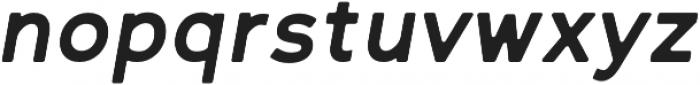 Bold Oblique Round otf (700) Font LOWERCASE