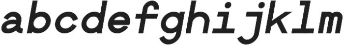 Bold Oblique otf (700) Font LOWERCASE