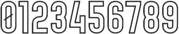 Bold Outline otf (700) Font OTHER CHARS