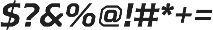 Bold Slanted otf (700) Font OTHER CHARS