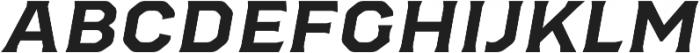 Bold Slanted otf (700) Font LOWERCASE