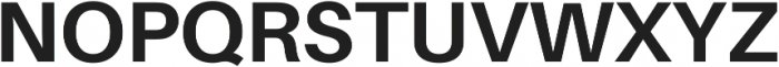 Bold ttf (700) Font UPPERCASE