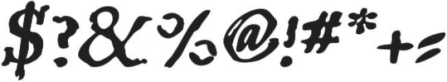 BoldItalic otf (700) Font OTHER CHARS