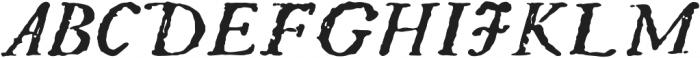 BoldItalic otf (700) Font UPPERCASE