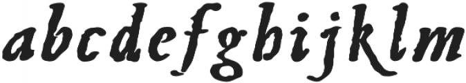 BoldItalic otf (700) Font LOWERCASE