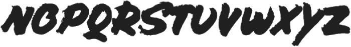 Bolder ALT otf (700) Font LOWERCASE