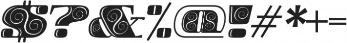Boldesqo Serif 4F Decor Italic otf (700) Font OTHER CHARS