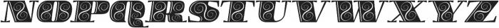 Boldesqo Serif 4F Decor Italic otf (700) Font UPPERCASE
